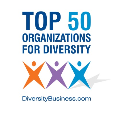 Logo for DiversityBusiness.com, MetLife is a Top 50 Employer