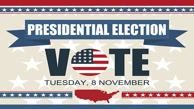 Presidential Election 2016. Vote Tuesday 8th November