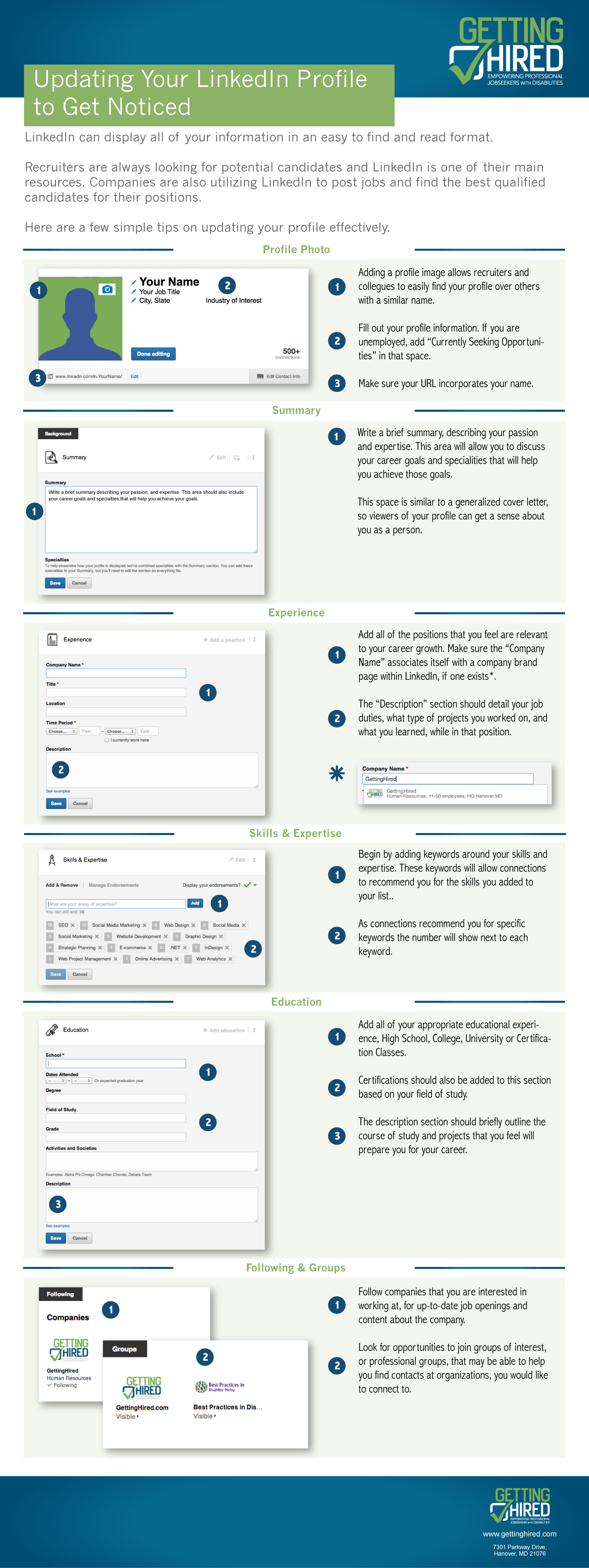 How to Update Your LinkedIn Profile Infograph