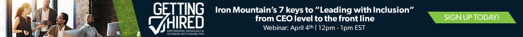 Webinar on April 4th from 12-1PM EST: Iron Mountain presents 7 keys to Leading with Inclusion from CEO level to the front line