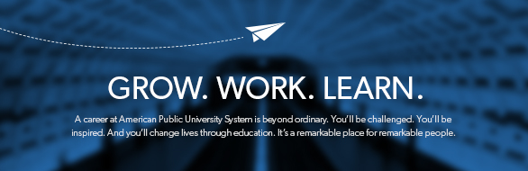 American Public University System Banner Image: Grow. Work. Learn